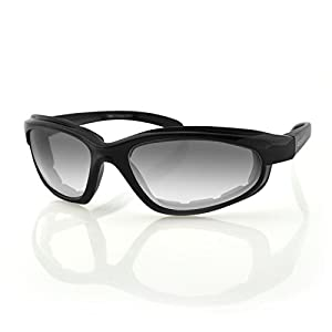Bobster Fat Boy Sunglasses with Black Frame and Anti-Fog Photochromic Lens (Gloss Black)