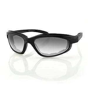 Bobster Fat Boy Sunglasses with Black Frame and Anti-Fog Photochromic Lens (Gloss Black)