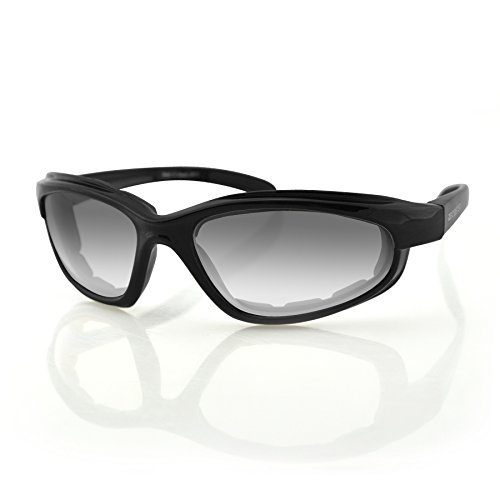 Bobster Fat Boy Sunglasses with Black Frame and Anti-Fog Photochromic Lens (Gloss - Sunglass Frames Rx