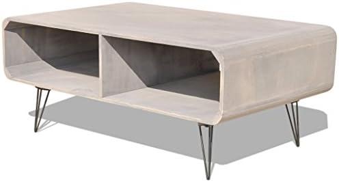 Goedkoop VidaXL salontafel van hout, woonkamertafel, koffietafel, bijzettafel, koffietafel, grijs, één maat  lPEbp1N