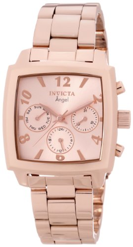 Invicta Women's 12102 Angel Rose Dial 18k Rose Gold Ion-Plated Stainless Steel Watch