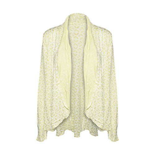 Fresh Produce Womens Circle Coast Bliss Cardigan Cotton Clothing Top (Solaire Lemon, X-Large/XX-Large) (Coast Cruise Jacket)