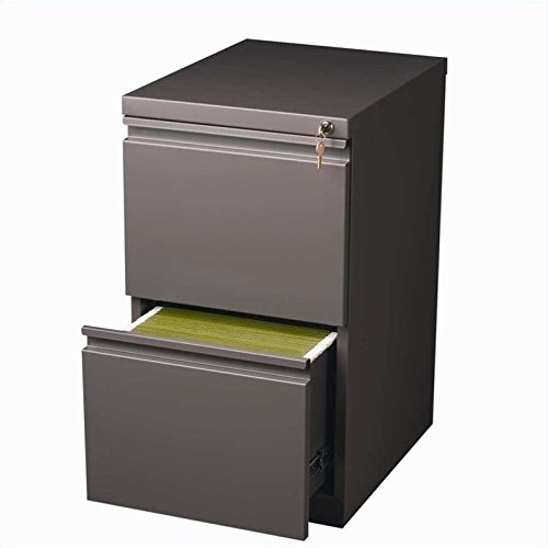 Hirsh Industries 2 Drawer Mobile File Cabinet in Med Tone