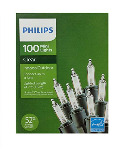 Lit Clear Lights - Philips 100 Mini Lights Clear