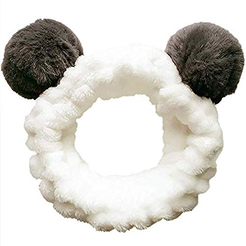 Headbands Women Washing Face Makeup Girls Baby Cute Elastic Facial Hair Bands Korean Beauty Products Spa Shower Yoga Headwrap Costume Hair Accessories, Animal Panda Ears
