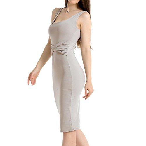 be049aee0dbd Elegant Ärmellos Für Casual Grau Party Kleider Kleid Abend ...