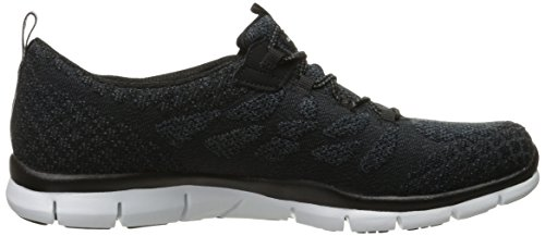 White Fashion Skechers Knit Gratis Women's Sport Bungee Sneaker Black qpH4Sw7