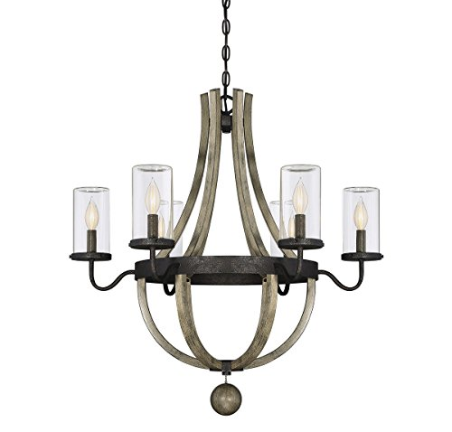 Savoy House 1-2100-6-70 Eden 6 Light Outdoor Chandelier in Weathervane Finish (Lamp Weathervane)