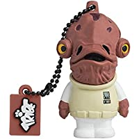 Tribe Fd007417 Disney Star Wars Pendrive Figure 8 Gb Funny USB Flash Drive 2.0 Memory Stick Data Storage, Keyholder Key Ring, Admiral Ackbar