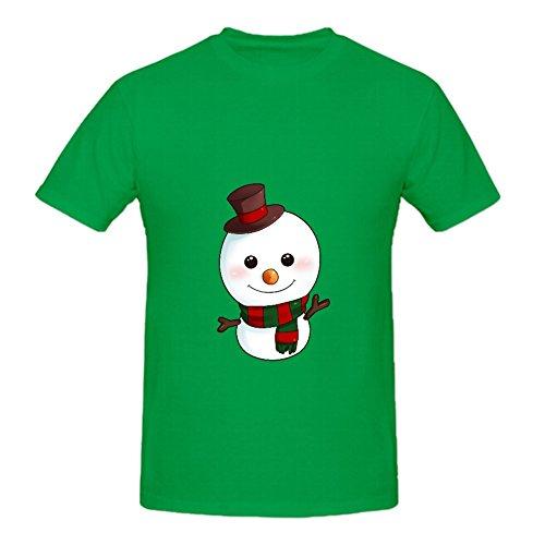 KARLEE Christmas Adorable Snowman Design O-Neck Man (Darkwing Duck Halloween)