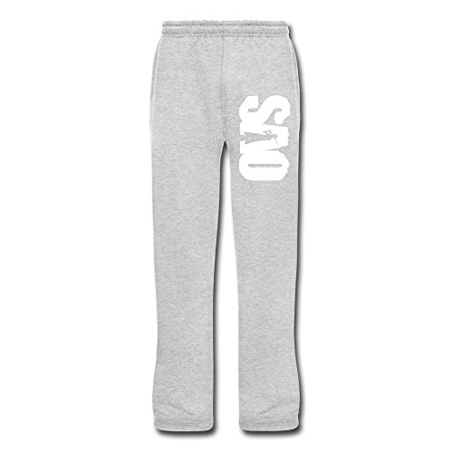 New Lifestyle Men's Sword Art Online SAO Logo Closed Bottom With Pockets Jersey Sweatpants
