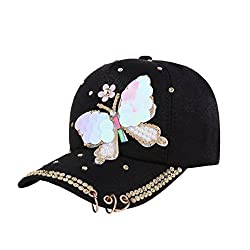 Rhinestone Crystals Studded Sequins Baseball Cap
