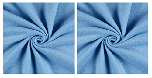 Newcastle Fabrics Polar Fleece Solid Sky Blue Fabric by The Yard, (Тwo Рack)