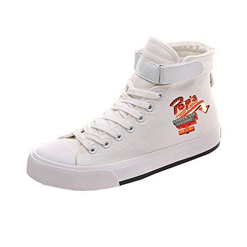 Casuales Zapatos Lona Negros Tacón De Riverdale White06 Unisex Alto afZwnaP