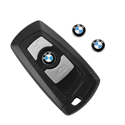 (11mm Remote Key Fob Remote Badge Logo Sticker Emblem For BMW (2 PCS) )