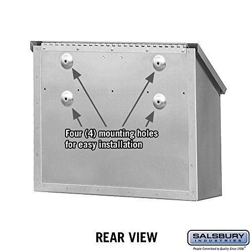 Salsbury Industries 4510  Standard Horizontal Style Mailbox, Stainless Steel by Salsbury Industries (Image #3)