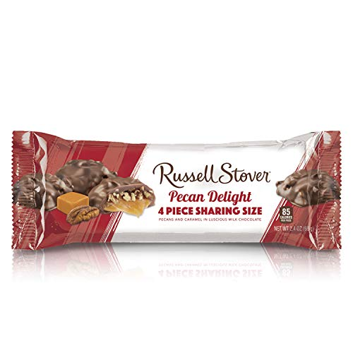 Russell Stover King Size Pecan Delight, 2.4 Ounce Bar, 18 Count