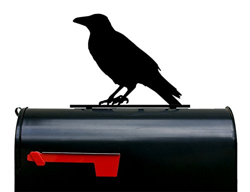 Crow Mailbox Topper / Sign - Bird by NewnanMetalWorks