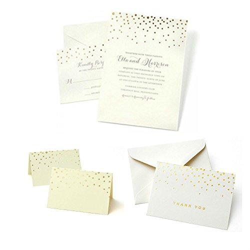 Complete Wedding Invitation Kits: Gartner Studios Gold Foil Dots Complete Event Kit, Set Of