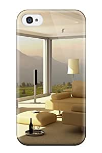 Unique Design Iphone 4/4s Durable Tpu Case Cover Room