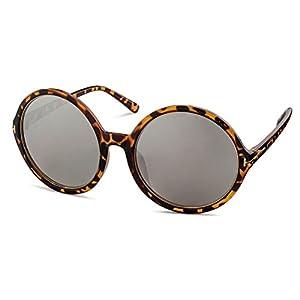 Havana Frame/Silver Mirror Lens Stylle Sunglasses