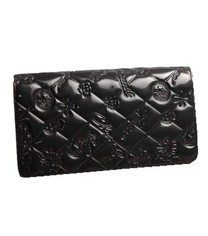 シャネル エナメル 長財布(ファスナー式小銭入れ付き)シンボルチャーム A37151