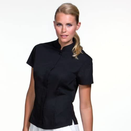 BARGEAR Ladies Short Sleeved Mandarin Collar Bar Shirt