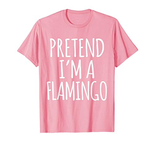 Funny Lazy Halloween Costume Shirt - Pink Flamingo Dress Up]()