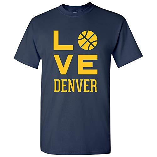 (Denver Love Basketball - Sports Team Hometown City Pride T Shirt - X-Large -)