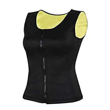 e55bd004af10e Neoprene Full Body Shaper Vest with Zip Up Zipper Slimming Waist Trainer  For Sauna Workouts And