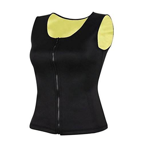 db9cc9b0eef23 Amazon.com  Neoprene Full Body Shaper Vest with Zip Up Zipper Slimming  Waist Trainer For Sauna Workouts And Running