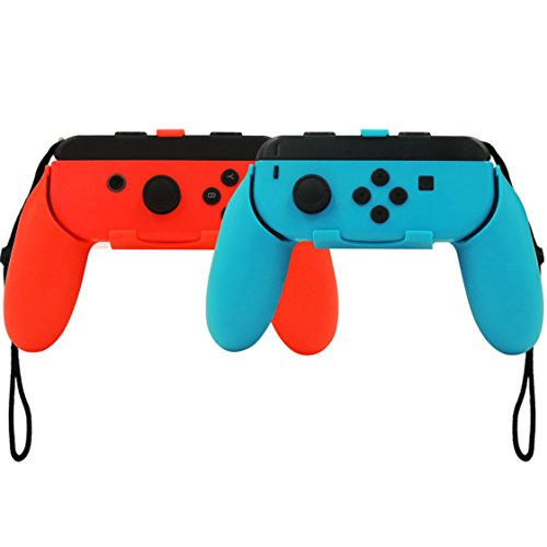 Nintendo Switch Joy-Con Grips Handle with ergonomics design (red+blue) For Sale