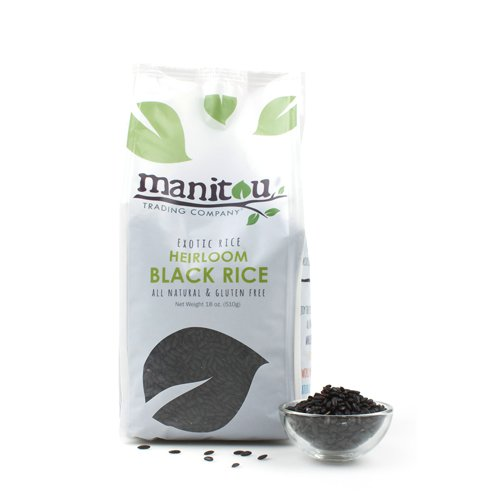 Manitou Chinese Black Rice - 18 oz (Pack of 6)