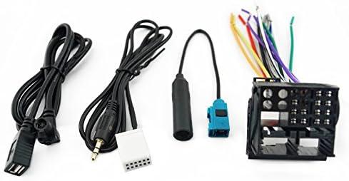 Arnés de cableado estéreo para radio de coche con antena de ...
