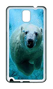 Samsung Note 3 Case,VUTTOO Stylish Swimming Polar Bear Soft Case For Samsung Galaxy Note 3 / N9000 / Note3 - TPU White
