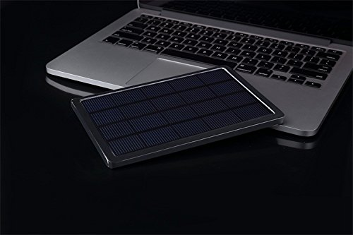 Skymax 10000mAh Dual USB Portable Solar Panel Charger External Battery Power Bank for Iphone 8 Plus, Ipad, Macbook, Laptop, Android Smart Phones and Tablets, Gopro Camera and Other Devices (Black) (Solar Panel Macbook Charger compare prices)