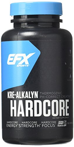 EFX Sports Kre-Alkalyn Hardcore Capsules, 120 Count