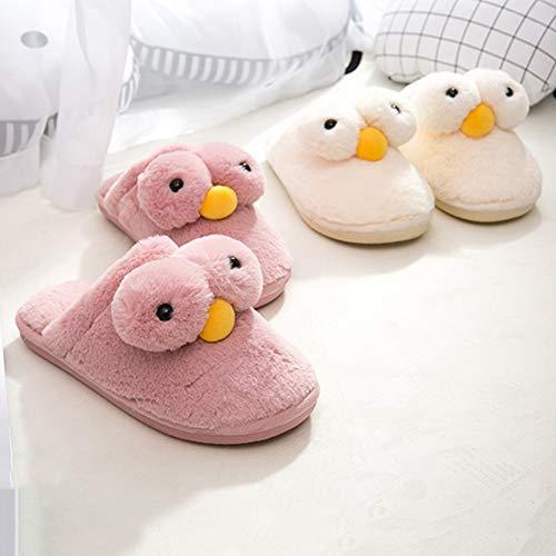 En Hiver Intérieur Pantoufles 40 Yangyongli slip Maison Chaussures Coton 41 Poilu Belle Non Rose Couple Hpn4x