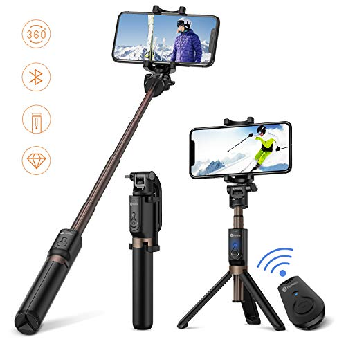 Humixx 2-in-1 Selfie Stick Wireless Remote Controlled Tripod Widely Compatible with iOS/Android Smartphones,...