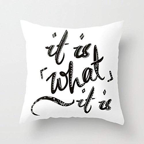It Is What Sofa Pillow Cover Decorative Couch Cushion Cover for Living Room Canvas Slipcover 18 x 18 (What Sofa Brand Best Is The)