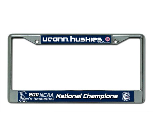NCAA Connecticut Huskies 2011 Basketball Champs Chrome License Plate Frame