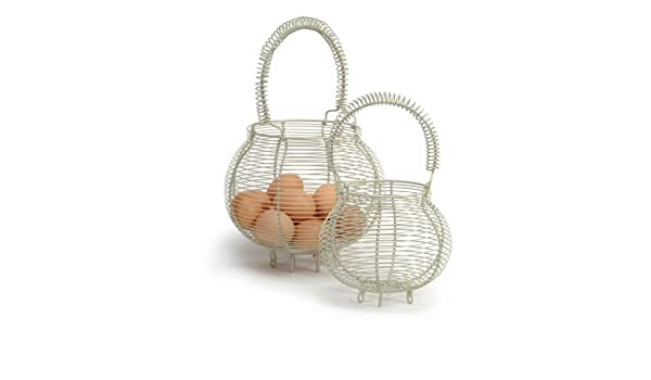 Canasta Para Huevos Manualidades.Cesta Para Huevos Pequena De Alambre Amazon Es Hogar