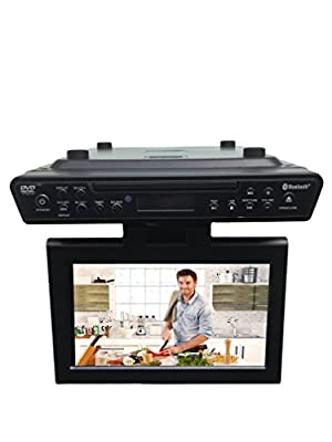 "Sylvania SKCR2706BT 10.2"" Under Cabinet Kitchen TV with Built in DVD Player & HDMI, Bluetooth"