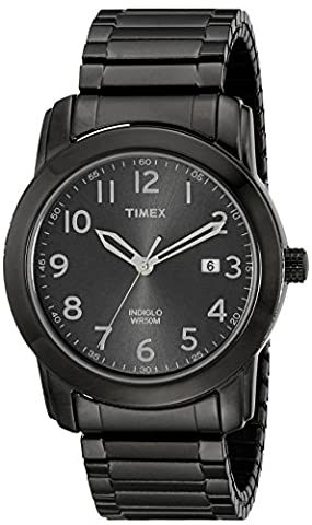 Timex Men's T2P135 Highland Street Gray Stainless Steel Expansion Band Watch - Timex Water Resistant Watch