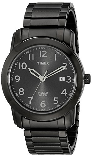 (Timex Men's T2P135 Highland Street Gray Stainless Steel Expansion Band Watch)