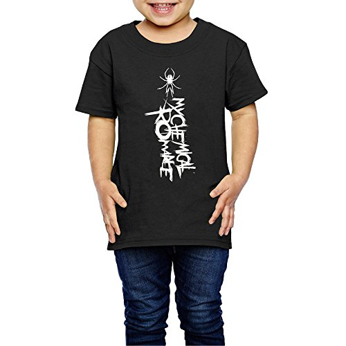AK79 Children 2-6 Years Old Boys And Girls Tee Shirt My Chemical Logo Romance Black Size 2 Toddler