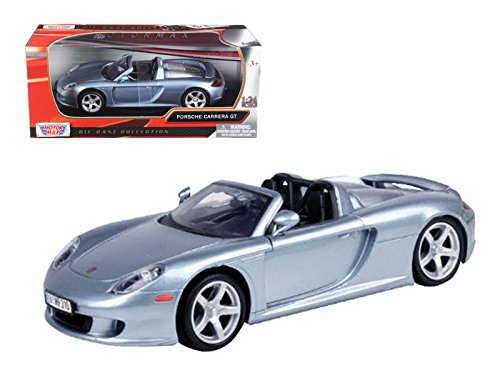 Motormax 73305 Porsche Carrera GT Gray 1/24 Diecast Model Car (Model Gray Porsche)