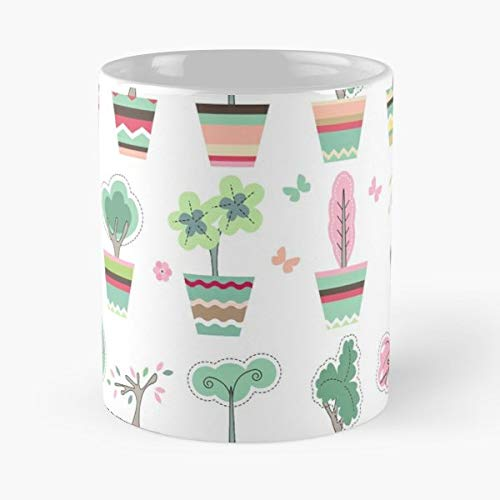 Topiary Tree Grow Branch - 11 Oz White -coffee Mug- Unique Birthday Gift-the Best Gift For - Holiday Topiary