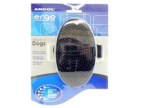 (4 Pack) Ancol Ergo Flexible Palm Pin Brush