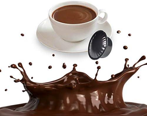 50 Capsule Cioccolata Compatibili Lavazza A Modo Mio – Bevanda Solubile in Cialde
